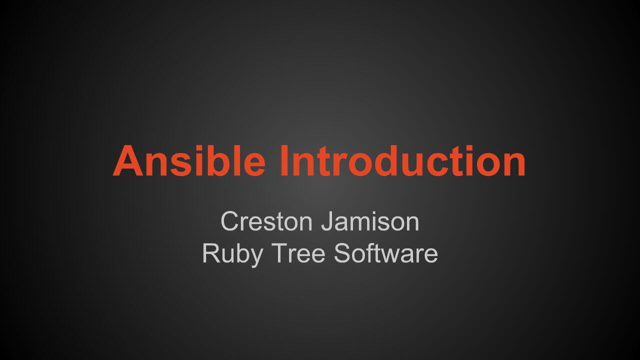 Ansible introduction